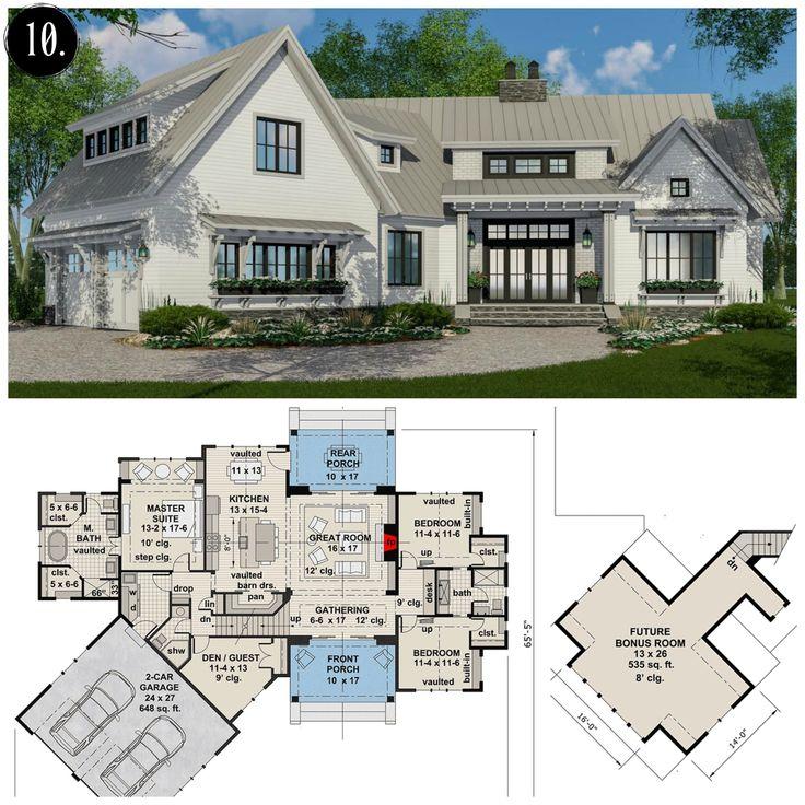 12 Modern Farmhouse Floor Plans Modern farmhouse