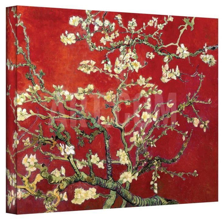 Vincent van Gogh 'Red Blossoming Almond Tree' Canvas Gallery Wrapped Canvas by Vincent van Gogh at Art.com