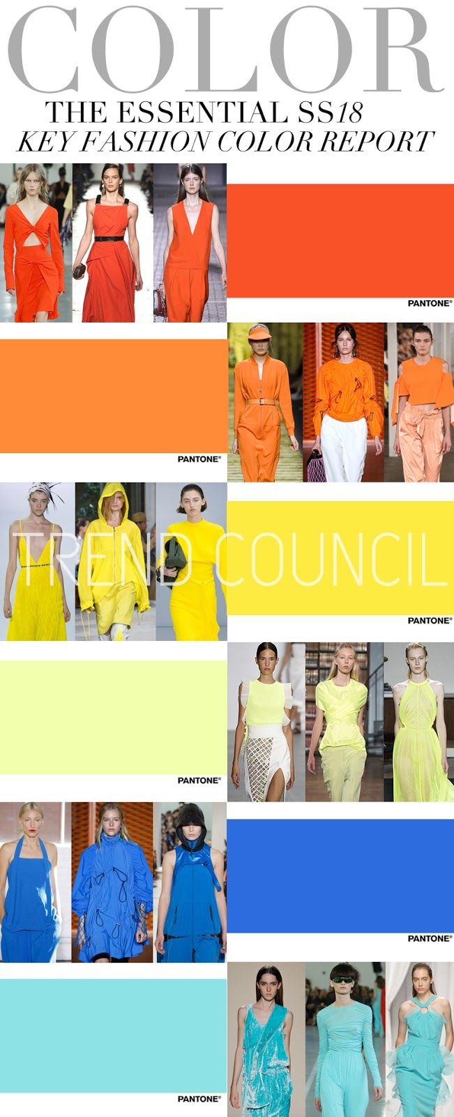 TRENDS // TREND COUNCIL - KEY FASHION COLORS . SS 2018                                                                                                                                                                                 More