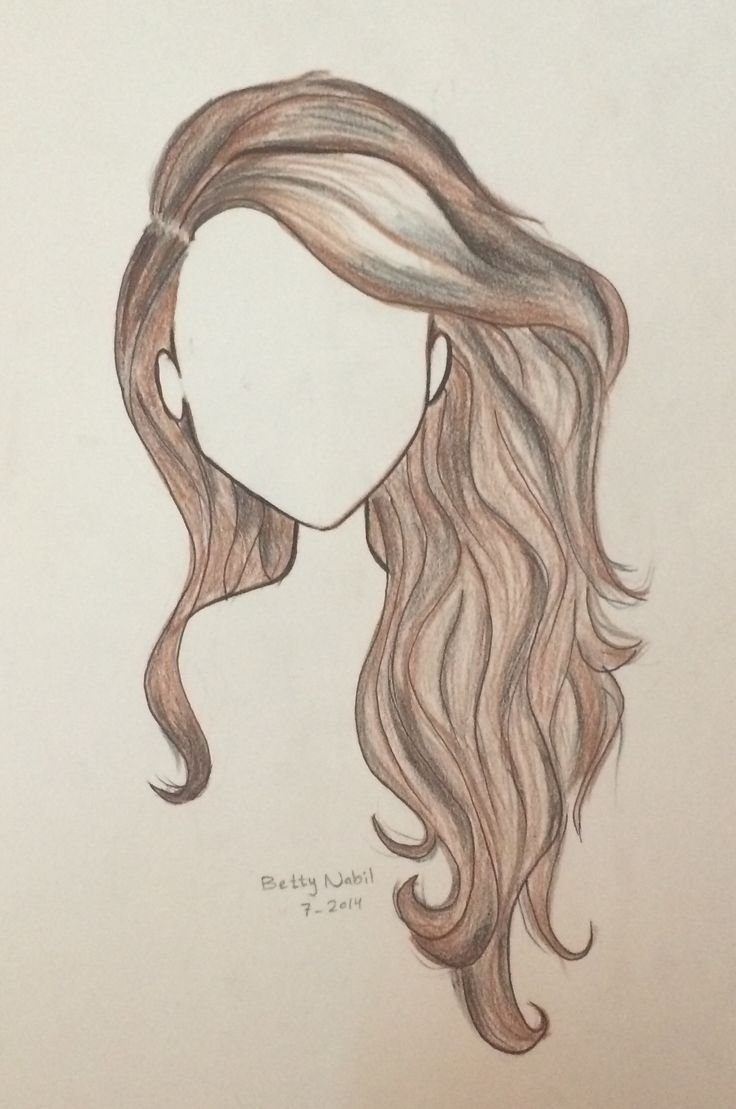 draw wavy hair in 2019