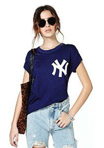 Minetom Femme Casual Manche Courte Shirt Tops Blouse Hauts Baseball Tee ( FR 36 )