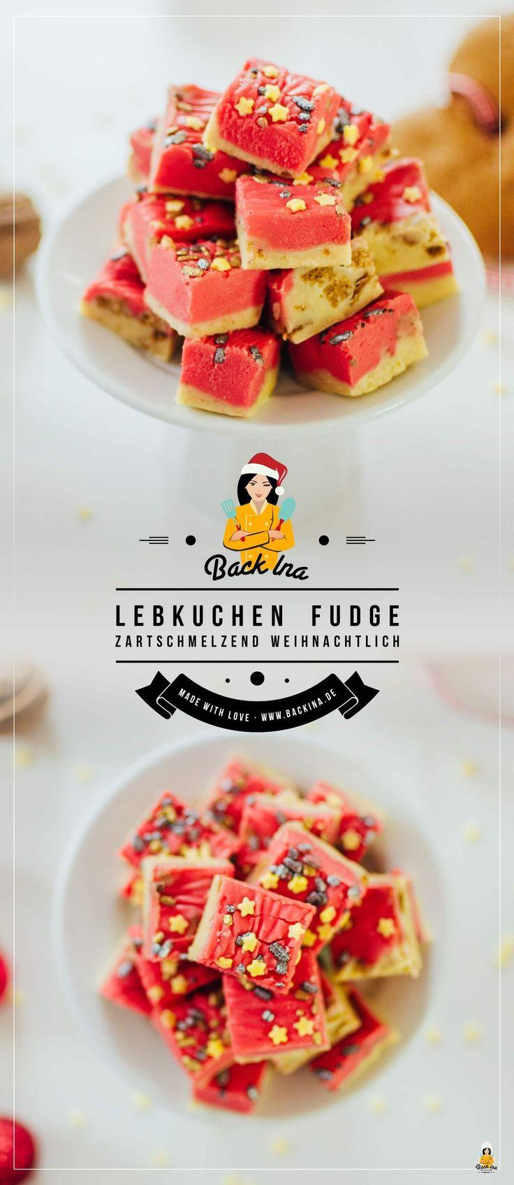 Lebkuchen Fudge (oder auch Weichkaramellen mit Lebkuchen-Geschmack) sind ideale Geschenke aus der Küche: Weihnachtliches Karamell mit Vanille- und Lebkuchen-Geschmack ist ganz leicht gemacht! Probier es doch auch mal aus!   BackIna.de
