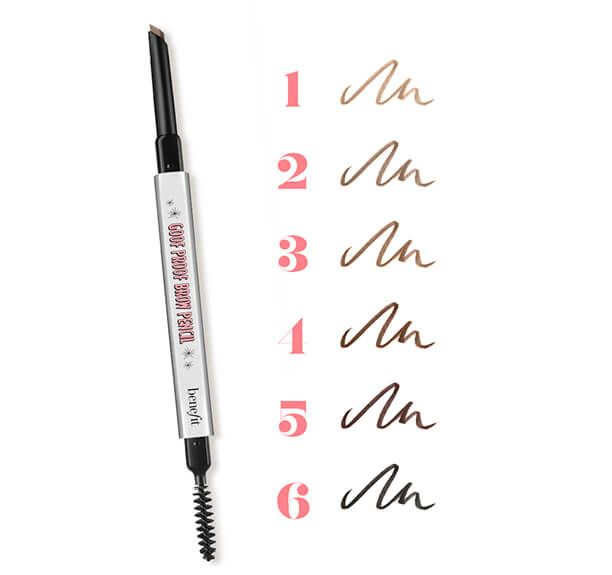 Now every gal can wave her magic wand for instant easy eyebrows! Benefit's NEW eyebrow pencil is available in 6 magical shades of soft, natural-looking color.