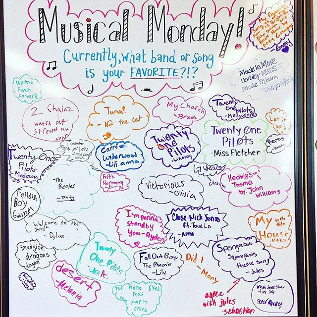 Happy MUSICAL MONDAY! #miss5thswhiteboard