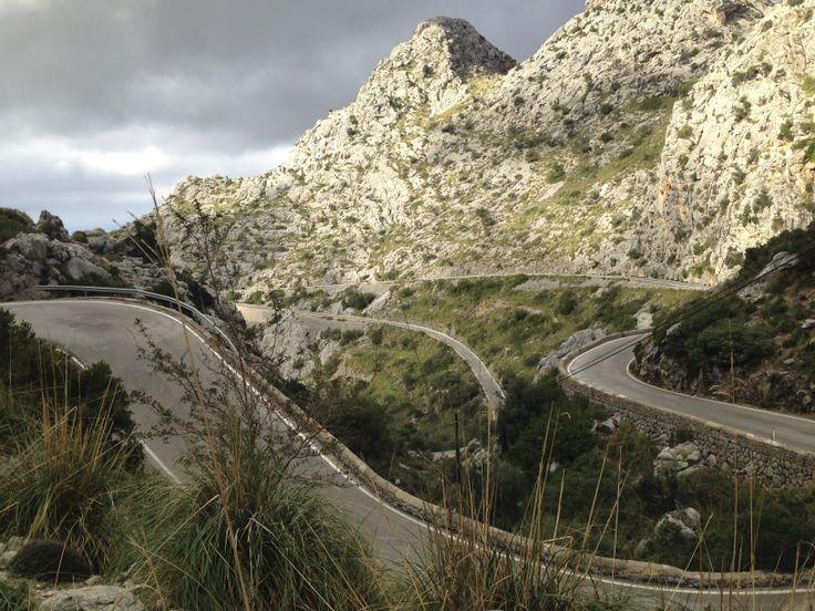 World famous Sa Calobra road. Cycling in Mallorca