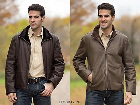 Дубленки пальто мужские с мехом