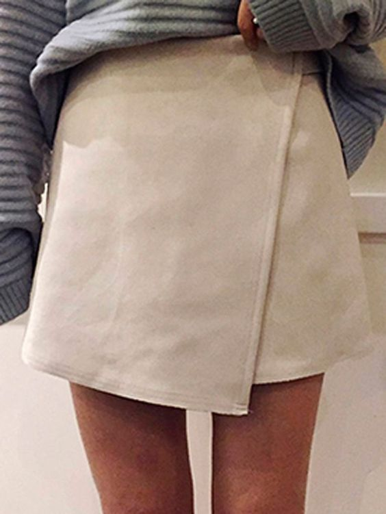 obsessed with this suede skirt! Definitely buying!