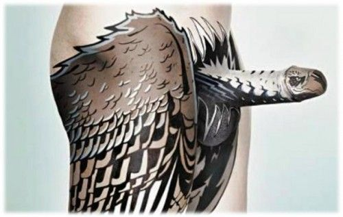 Body painting eagle penis | Body Painting | Pinterest