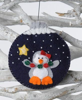 Cute  felt ornament Christmas felt penguin - stuffed toy pattern sewing handmade craft idea template inspiration felt fabric DIY project children chistmas DIY ornament