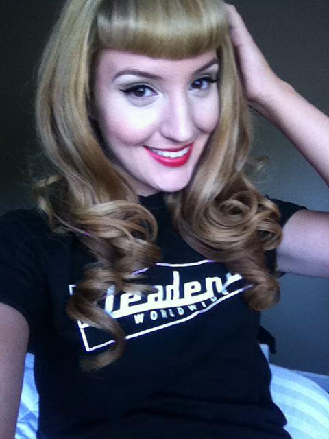 Blonde Bettie Bangs Pinup Pinterest Bangs Blondes