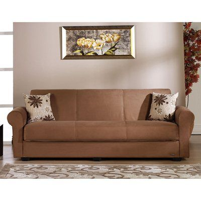 Modern Sofa Elita S Three Seat Sleeper Elegant modern futon sofa sleeper Converts to full size mattress