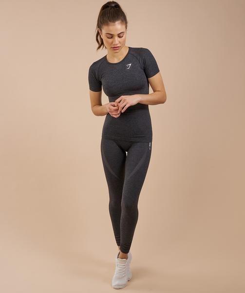 Gymshark Seamless T-Shirt - Black Marl 4