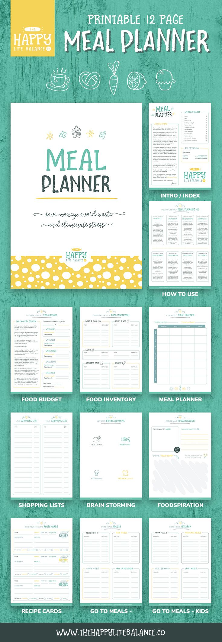 25 best ideas about weekly meal planner template on for To go menu template free