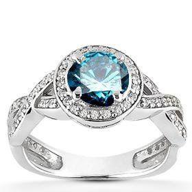 blue diamond jewelry -