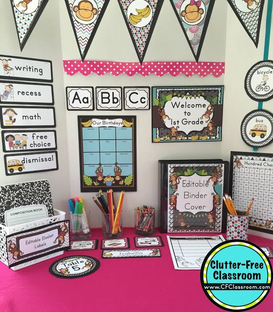 Classroom Decor On A Budget : Best monkey classroom theme ideas and decor images on