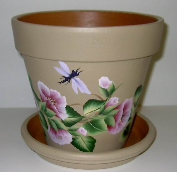 free images to paint on clay pots | Hand Painted Clay Flower Pots