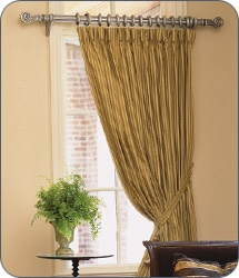 Curtain Rods With Crystal Ends DIY Drapery Rods