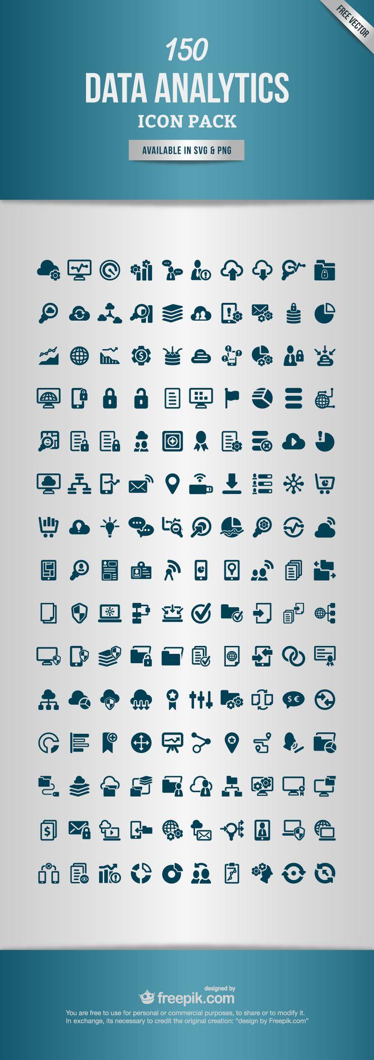 150 Free Data Analytics Icons