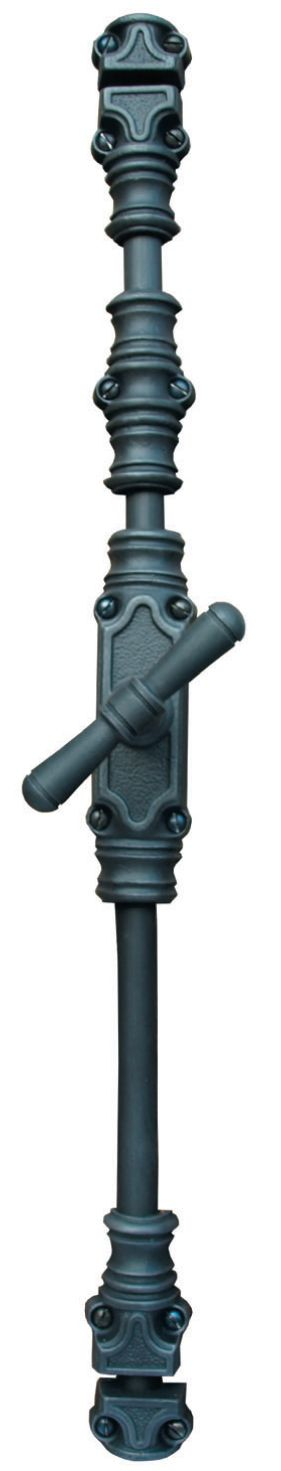 Art.327/2111. Traditional cremone bolt ( espagnolette bolt). This handle is available in 13 different finishes. We supply with 5 accessories. Rods must be ordered separatly