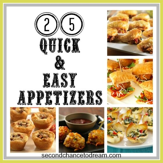 25 quick & Easy Appitizers
