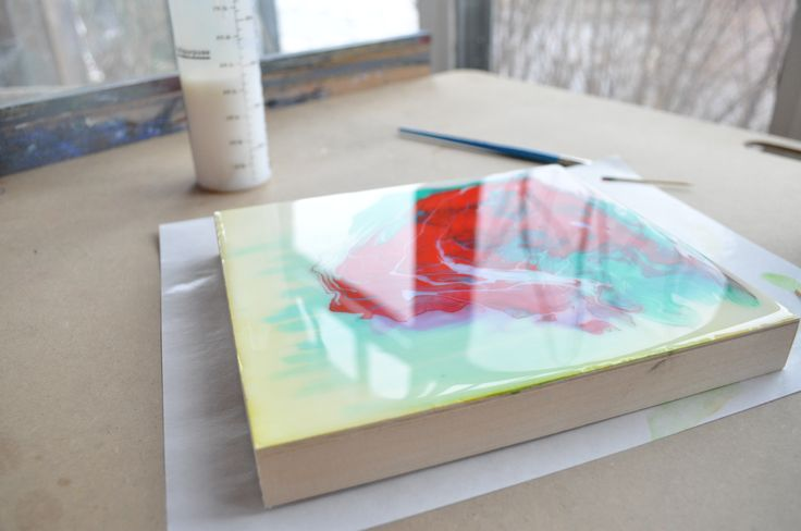 how to clean off a poured canvas painting