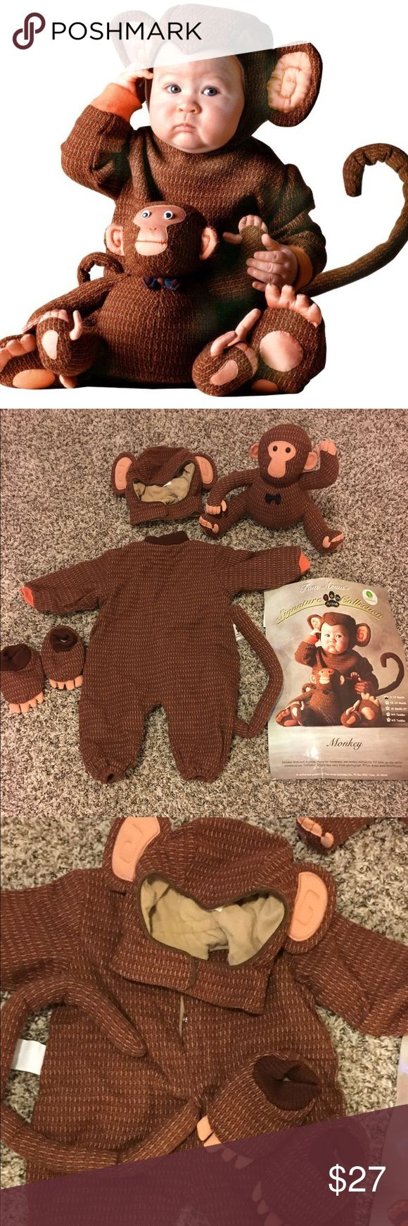 Tom Arma Monkey Costume Tom Arma Monkey costume with stuffed monkey. Such a cute costume. Worn for a few hours. Costumes Halloween                                                                                                                                                                                 More