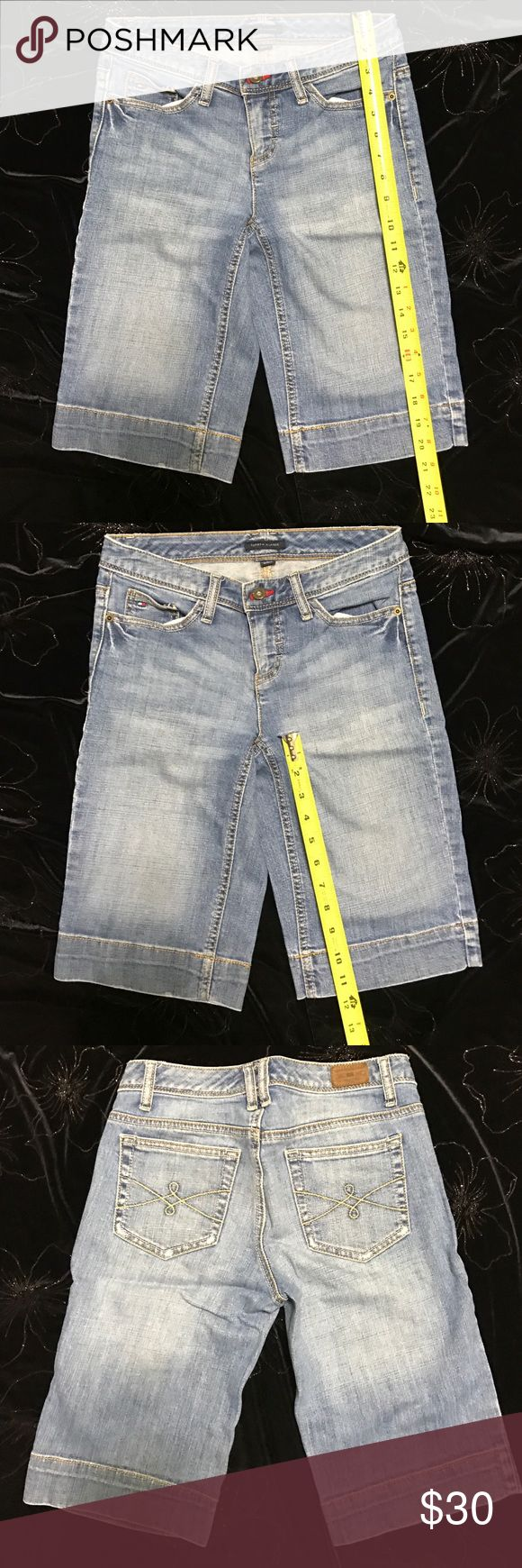 """🌎Tommy Hilfiger Shorts Good Condition. Made in Mauritius. 98% cotton 2%Lycra. Inseam 11"""". Come from clean house. Tommy Hilfiger Shorts Jean Shorts"""