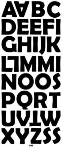 085 Grote Letters | Groothandel in o.a. Stickervellen alfabet | LINNENKARTON.NL