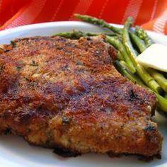 Chuletas de cerdo empanizadas estilo italiano @ allrecipes.com.mx