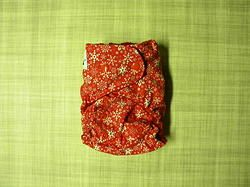 Red Snowflakes All In Two Diaper