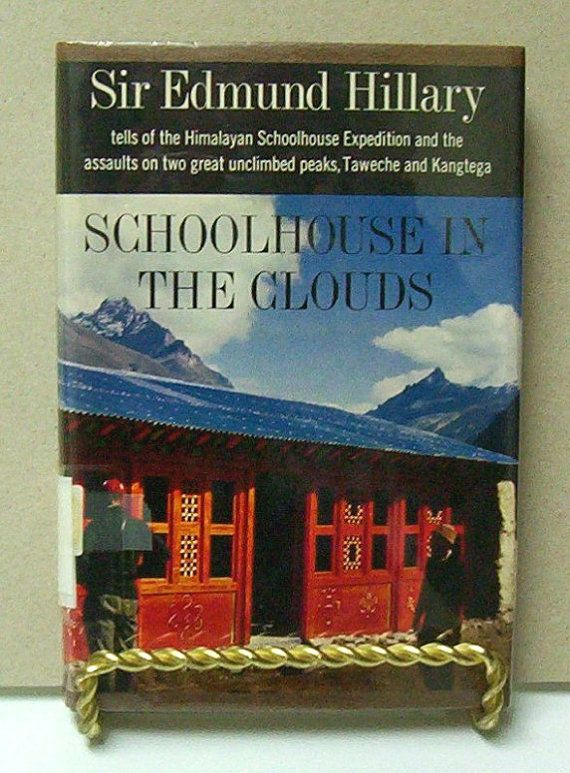 Schoolhouse In The Clouds by Sir Edmund Hillary on Etsy, $28.00