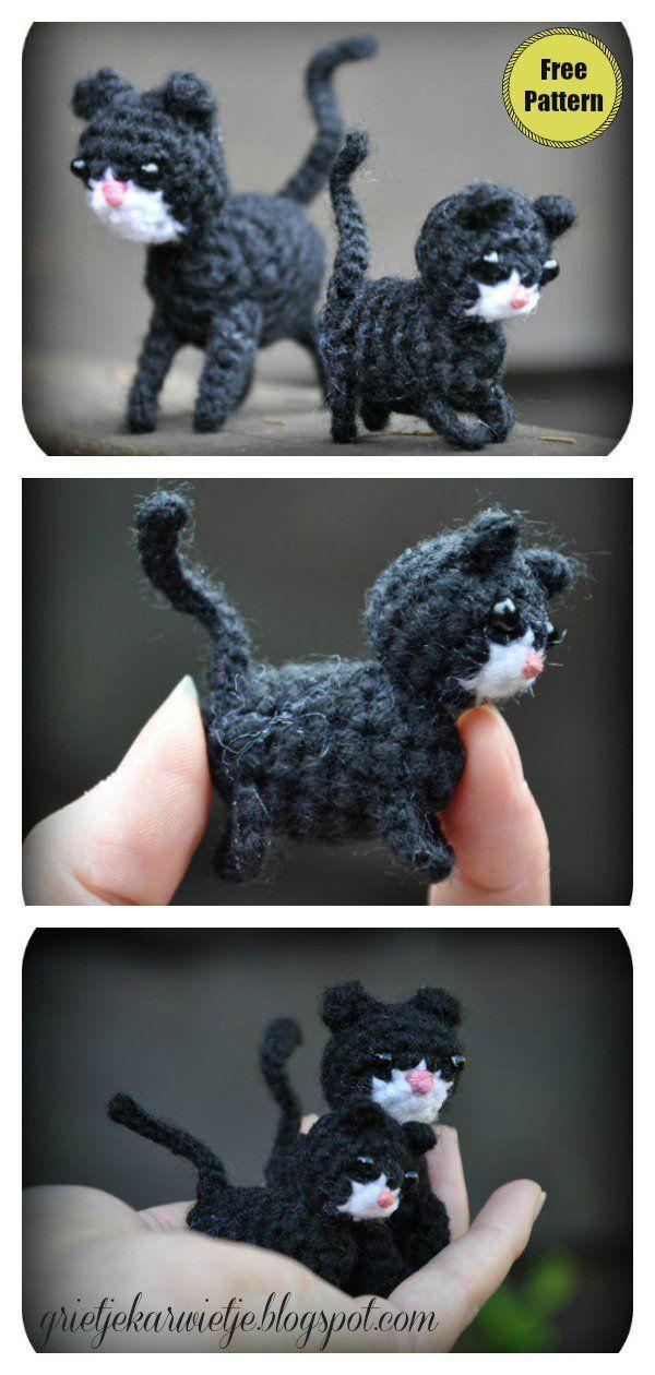 móhu — Blob cats! Get the amigurumi pattern in Mini... | 1260x600