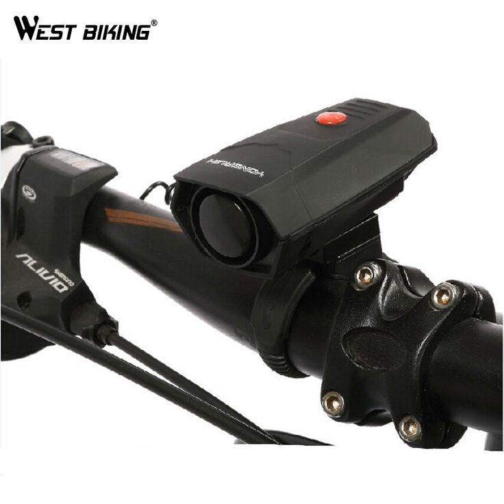 WEST BIKING Electric Cycling Alarm Bike Horn Speaker Timbres Bicicleta Alarm High-decibel Electronic Bicycle Horn Bicycle Bell