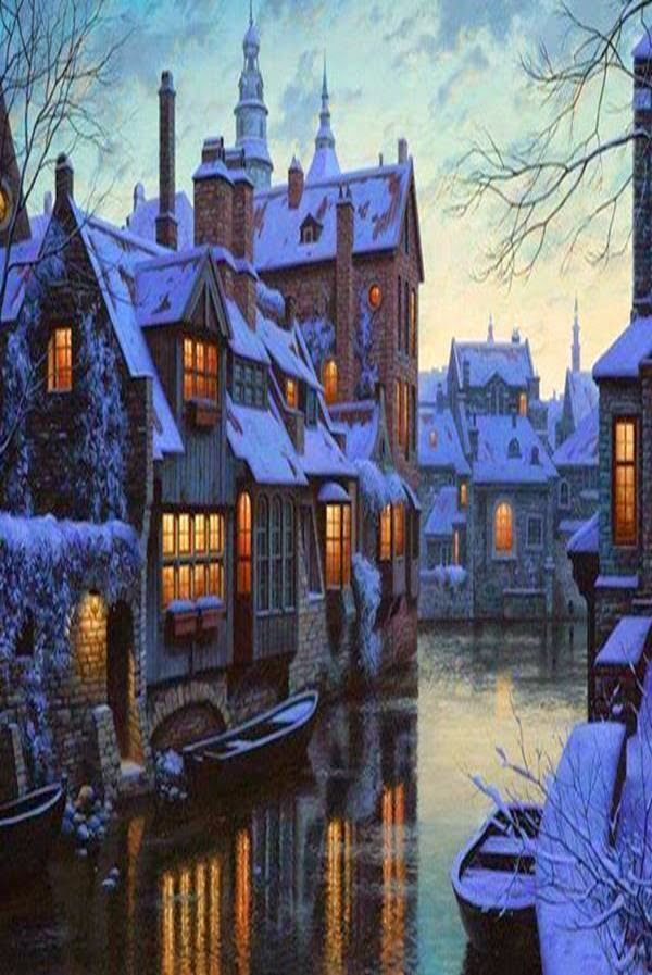 Bruges, Belgium is a lovely place to visit in winter!
