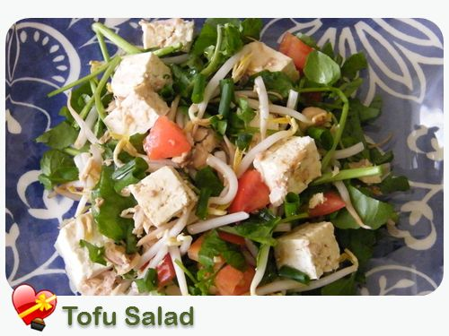 Tofu Salad - ILoveHawaiianFoodRecipes