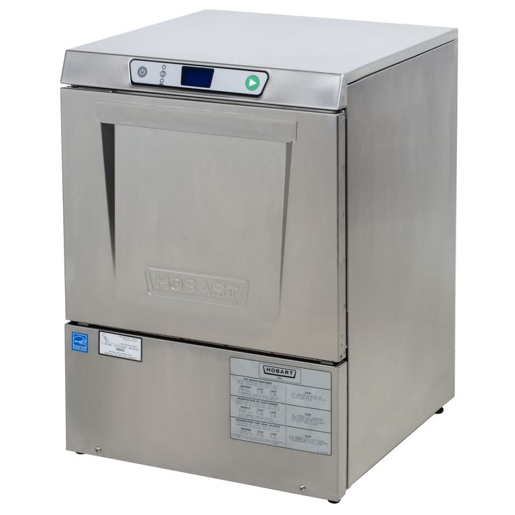 This Hobart LXeH-2 hot water sanitizing dishwasher provides you with superior efficiency in a compact, undercounter footprint! This Hobart dishwasher can handle up to 32 racks per hour using only 0.74 gallons of water per rack, allowing it to keep up with high demands while cutting down on cost. For efficient operation and easy cleaning, this Hobart dishwasher also features a deluxe soil management system with a removable stainless steel scrap screen and secondary fine strainer. <br><...
