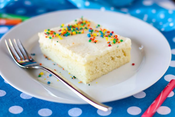 White Sheet Cake with Fluffy Whipped Icing > Willow Bird Baking