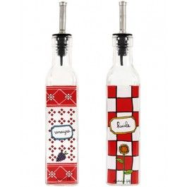 Derriere la Porte - Oil and Vinegar Bottle Set Squares