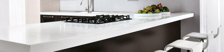 Piano #cucina in #Okite 1665 Bianco Assoluto #kitchen #worktops #design #arredamento