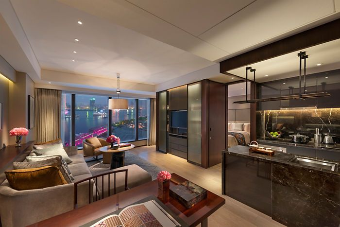 One-bedroom apartment at the Mandarin Oriental Pudong, Shanghai Executive Apartments