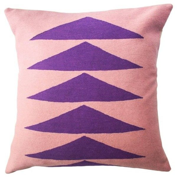 Tropical Palm Springs Purple Hand Embroidered Modern Throw Pillow... (€130) ❤ liked on Polyvore featuring home, bed & bath, bedding, purple, embroidery bedding, embroidered bedding, purple bedding and purple bed linen