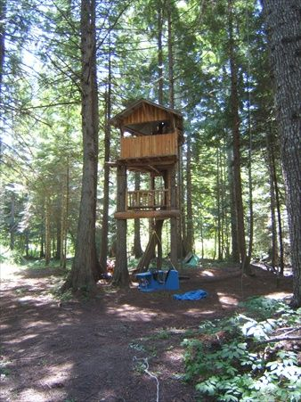 Our Backyard Tree House Deer Stand Favorite Places