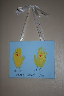 Handprint Chicks-a fun Easter craft to do with the kids.