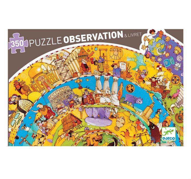 Történelem spirál puzzle Djeco History