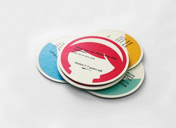 Paper coasters funny gift cute paper coasters by MessProject, €9.00  #papergoods #papercoasters #coasters #funny #happy #cute #illustration #faces #kawaii #housewarminggift #houseware