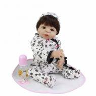 Boneca Bebê Reborn Mia corpo de silicone c/ acessórios - PODE DAR BANHO!