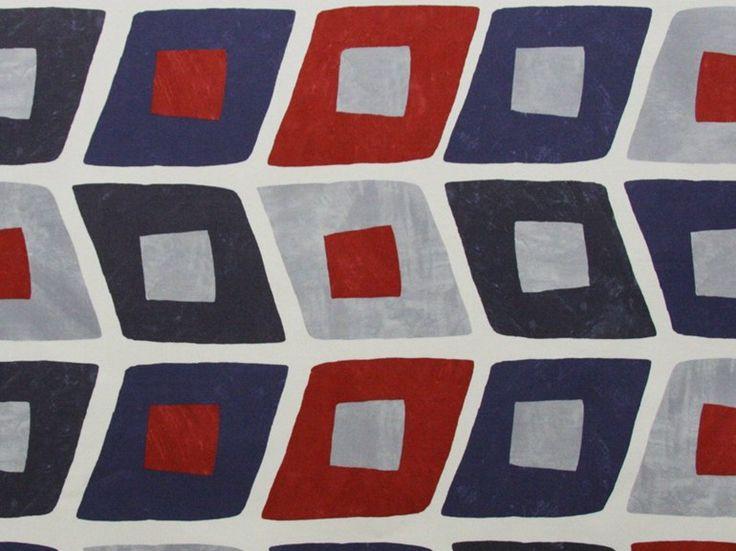 Tessuto in cotone con motivi grafici GEOMETRIE QUI BOUGE by Dedar