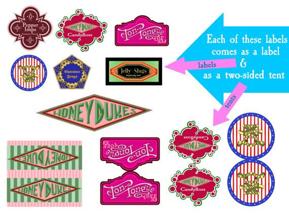 It is a photo of Comprehensive Honeydukes Free Printable Labels