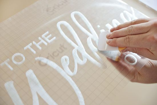 Etched Mirror Wedding Sign Tutorial