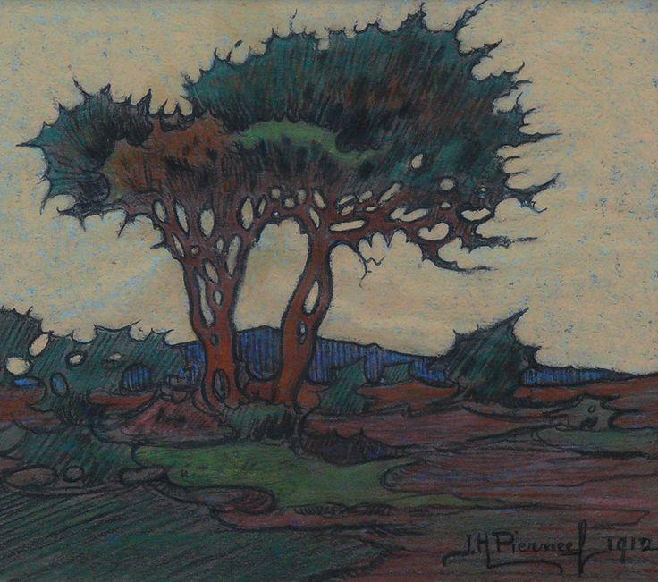 JH Pierneef - Thorny Evening